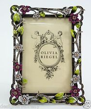 "Olivia Riegel Sophie Floral 4"" x 6"" Picture Photo Frame Swarovski crystals"