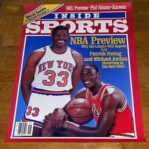 Rare HTF Dated 1985 Michael Jordan Rookie Year INSIDE SPORTS Poster 25 x 18