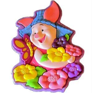 Disney's Winnie the Pooh Piglet flower garden Hard Plastic 3-D Puzzle 18 M & up