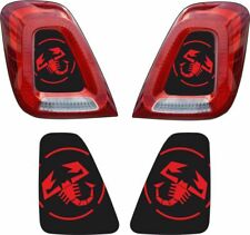 Fiat 500 595 695 Abarth rear Lights inlay Decals Stickers vinyls any colours