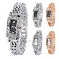 Womens Ladies Luxury Crystal Diamond Bracelet Watch Quartz Dress Wrist Watches
