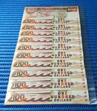10X Singapore Ship Series $100 Note A/10 235681-235690 Run GKS Dollar Currency