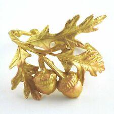 Table Art Bronze Acorn and Oak Leaf Napkin Rings, Set of 4