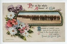 Soldiers of Christ Arise Put on the Whole Armour of God WW1 Bamforth Co Postcard