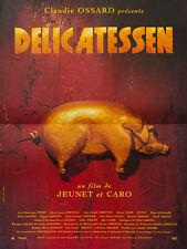 Affiche 40x60cm DELICATESSEN (1991) Jeunet, Caro - Dreyfus, Dominique Pinon TBE