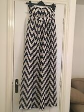 Women's Geri Halliwell For Next Strapless Maxi Dress Navy And White  - Size 8