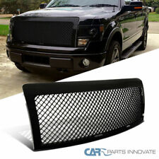 Ford 09-14 F150 F-150 Pickup Glossy Black Mesh Style Front Hood Grill Grille