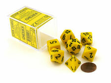Polyhedral 7-Die Opaque Chessex Dice Set - Yellow with Black Numbers