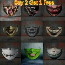 Halloween face mask funny scary fashion Washable Reusable UK face covers horror