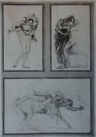Auguste RODIN : Trois études mythologiques - GRAVURE ORIGINALE SIGNEE # 1897