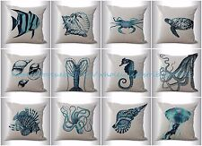 US SELLER-10pcs cushion covers seashell lobster fish patio seat wholesale lot