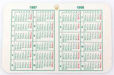 1997 - 1998 ROLEX CALENDAR. SUBMARINER, GMT, DATEJUST, EXPLORER ETC
