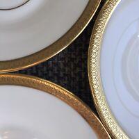 "Set Of 7 Plates, 6"" Gold (Lenox) Fine Bone China ""Bennington"" EUC 1963-'84"