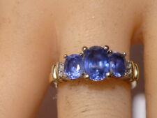 Sapphire & Diamond 10K Gold Ring Oval Cut Sapphire Amazing Stunning