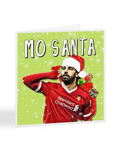 Mo Santa Liverpool Football Christmas Card Mo Salah Premier League Soccer A7354