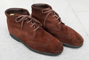 TOD'S  - Brown Suede Desert Ankle  Boots . Made in Italy