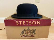 Vintage 40's 50's Gray Stetson Men's Bowler Derby Hat Size 7-3/8 Original Box