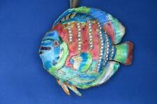Large Tropical Cloisonne Discus Hanging Fish figural