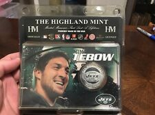 Tim Tebow New York Jets Football Silver Coin Display NFL Highland Mint CRT