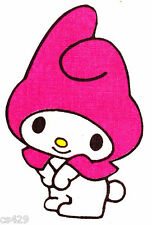 """4"""" Hello kitty my melody fabric applique iron on character"""