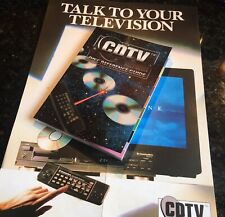 CDTV Disc Reference Guide Book + Free Poster (Amiga, Commodore, Retro Gaming)