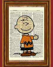 Charlie Brown Dictionary Art Print Picture Poster Peanuts Vintage Book