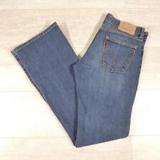 """Ladies LEVIS 10529 Bootcut 29""""W 34""""L Vintage Stonewashed Blue Denim Jeans #E3007"""