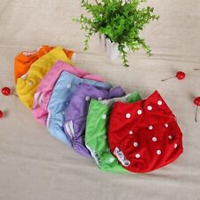 Reusable Baby Cloth Diaper Washable Adjustable Pocket Waterproof Nappy Suits