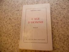 1957.L'age d'homme.Max-Louis Gallo (envoi)