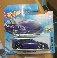 Hot wheels PORSCHE 911 GT3 RS purple 2019 short card
