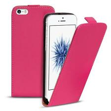 Flip Case Apple iPhone 5 5S SE Hülle Pu Leder Klapphülle Handy Tasche Cover Pink