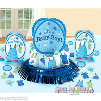 SHOWER WITH LOVE BOY TABLE DECORATING KIT (23pc) ~ Baby Party Supplies Confetti