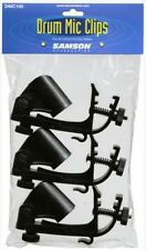 New Samson Drum Microphone Clip Set DMC100 (3 clips per set)
