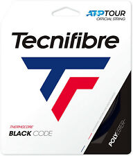 Tecnifibre Black Code Tennis String - 12m Set - Black - BlackCode