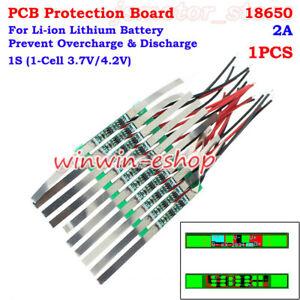PCB Protection Board 1S 2A 3.7V Li-ion Lithium Lipo 18650 Battery BMS Circuit