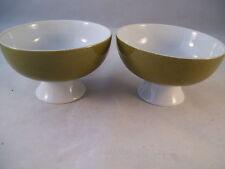 Vintage Mikasa Pivotal Ben Seibel La Ronde 2 Sherbet Cups Bowls Retro Green