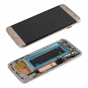 LCD Display Touch Screen Digitizer + Frame For Samsung Galaxy S7 Edge G935F Gold