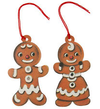 Sass & Belle Retro Festive Gingerbread Boy / Girl Christmas Gift Tags - 10 Pack