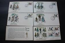SET A CENTURY OF CYCLING GREAT BRITAIN GB UK FLEETWOOD FIRST DAY COVERS FDC