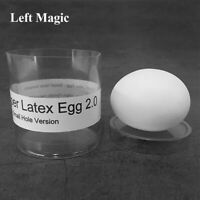 Super Latex Egg 2.0 Small Hole Version Magic Tricks Real-looking Egg Magia Stage
