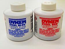 Dykem Layout Fluid 1 Red Amp 1 Blue 4 Floz Brush In Cap