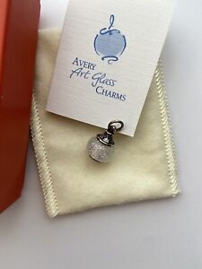 Retired James Avery Faith Cross Glass Finial Sterling Silver Charm - New