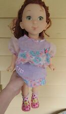 "18"" EUC Jakks Pacific FANCY NANCY doll cp dress-with heart socks/pink shoes/unde"
