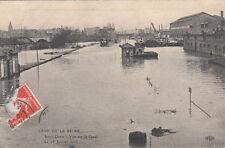 SAINT-DENIS vue sur le canal cure de la seine 28 janvier 1910 timbrée