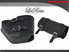 LaRosa Black Leather Harley V Rod Night Rod Special Left Saddle Bag + Tool Bag