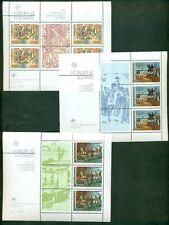 EUROPA 1982 Portugal + Azores + Madeira Souvenir sheets NH, VF Scott $35.00