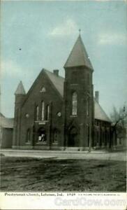 1909 Lebanon,IN Presbyterian Church Boone County Indiana Antique Postcard
