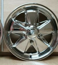 Porsche Fuchs Style Wheel 4.5J Chrome 5x130 Vw Foosh Split 911 912 356 Kafer...