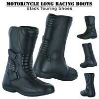Motorbike Leather Long Boots Biker Racing Motorcycle Armoured Shoes Waterproof