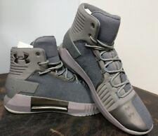 Men's Under Armour Drive 4X Basketball Shoes Zinc Grey/Metallic 3020487 Size11.5